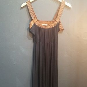 Vintage 90's akiko leather and cotton dress